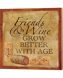 Wine Cork Sentimen4 By Cynthia Coulter Canvas Art