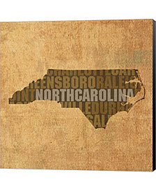 North Carolina State By David Bowman Canvas Art