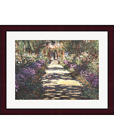 Garden At Giverny By Claude Monet Framed Art