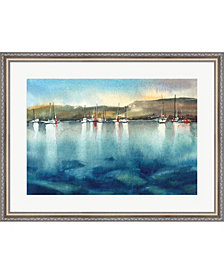 Boat Reflections By Sophia Rodionov Framed Art