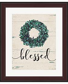 Blessed Wreath By Jo Moulton Framed Art