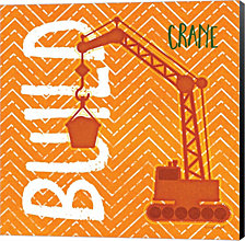 Crane Build By Jennifer Pugh Canvas Art