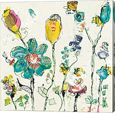 Doodle Garden Cream by Kellie Day Canvas Art