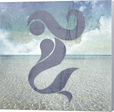 Beach Signs Mermaid by LightBoxJournal Canvas Art