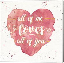Happy Hearts I Pink by Jess Aiken Canvas Art