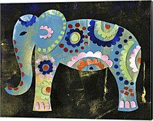 Boho Elephant 3 by Summer Tali Hilty Canvas Art