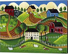 Corgi Country by Cheryl Bartley Canvas Art