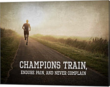 Champions Train Man Color by Sports Mania Canvas Art