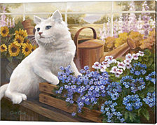 Guardian Of The Greenhouse by Evie Cook Canvas Art