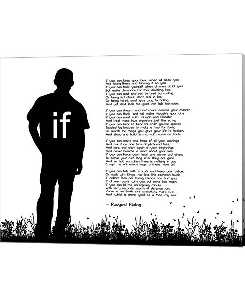 Metaverse If By Rudyard Kipling - Man Silhouette White By Quote Master Canvas Art
