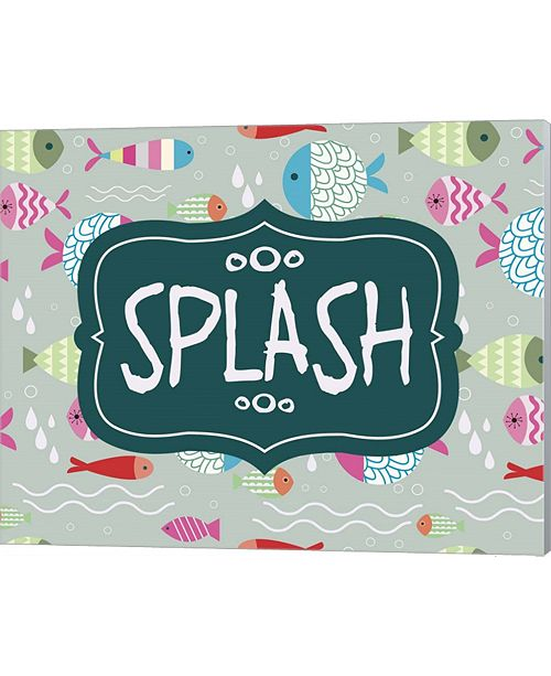 Metaverse Splish And Splash Fish Pattern Green Part Ii By Color Me Happy Canvas Art