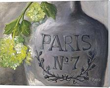 Vase Paris by Marnie Bourque Canvas Art