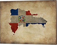 Map With Flag Overlay Dominican Republic By Take Me Away Canvas Art