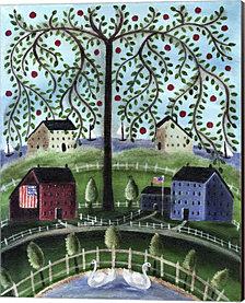 American Salt Box Village by Cheryl Bartley Canvas Art