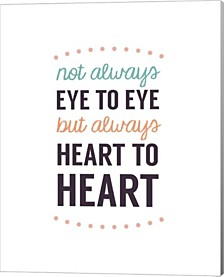 Not Always Eye To Eye - Dot Design White By Color Me Happy Canvas Art