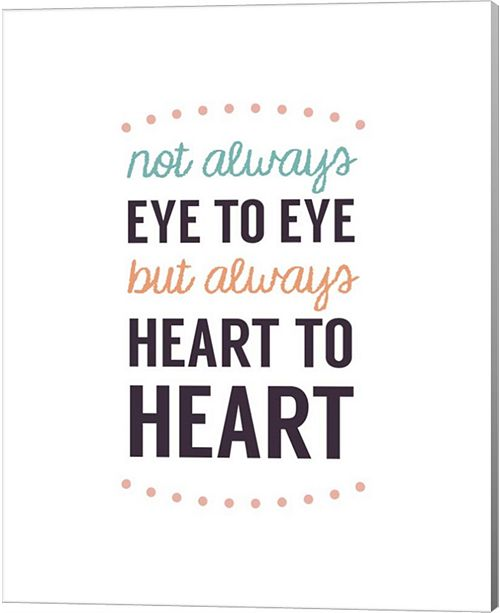 Metaverse Not Always Eye To Eye - Dot Design White By Color Me Happy Canvas Art