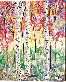 Colorful Birch Forest by Roey Ebert Canvas Art
