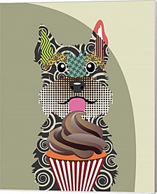 Schnauzer By Lanre Adefioye Canvas Art