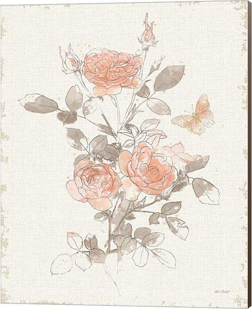 Metaverse Watery Blooms Ii Gray Cream By Katie Pertiet Canvas Art