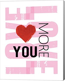 Love You More By Louise Carey Canvas Art