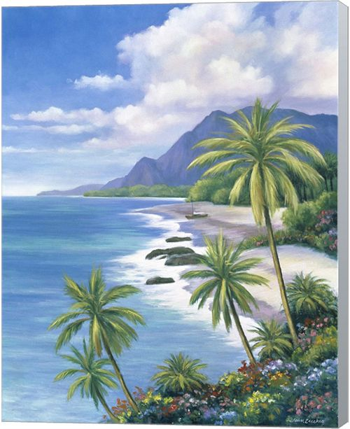 Metaverse Tropical Paradise Ii By John Zaccheo Canvas Art