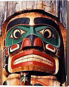 Totem Pole,Vancouver Island By Walter Bibikow, Danita Delimont Canvas Art