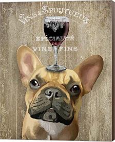 Dog Au Vin, French Bulldog By Fab Funky Canvas Art