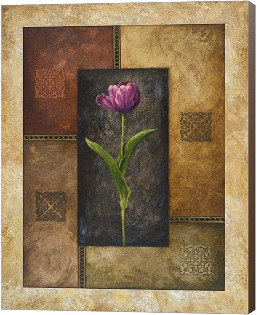 Metaverse Violet Tulip By Michael Marcon Canvas Art