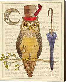Steampunk Owl I by Elyse DeNeige Canvas Art