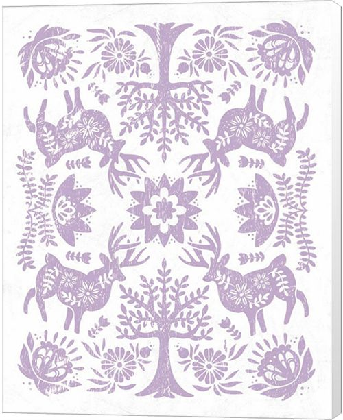 Metaverse Otomi Deer Pastel By Cleonique Hilsaca Canvas Art