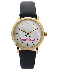 Women's Stay Fabulous Leather Strap Watch