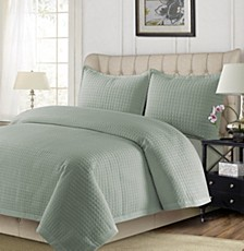 Como Microfiber Solid Oversized Twin Quilt Set