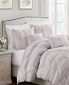 Floral Pintuck Full/Queen Comforter Set