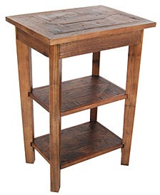 "Modesto 20""Dia. Reclaimed Wood Round End Table"