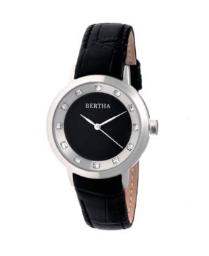 Bertha Quartz Cecelia Collection Blackleather Watch 34Mm
