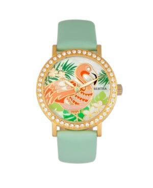 Quartz Luna Collection Mint Leather Watch 35Mm