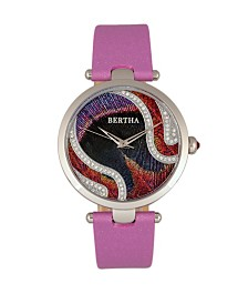 Bertha Quartz Trisha Collection Lilac Leather Watch 39Mm