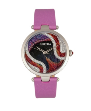 Quartz Trisha Collection Lilac Leather Watch 39Mm