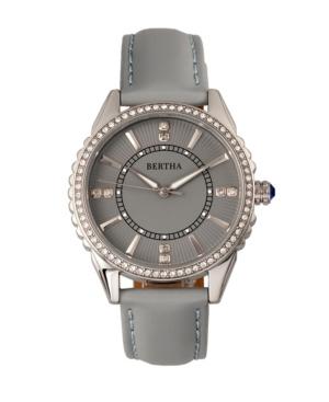 Quartz Clara Collection Grey Leather Watch 39Mm