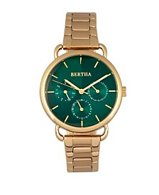 Bertha Quartz Gwen Collection Gold Stainless Steel Watch 36Mm