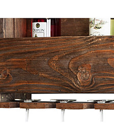 """Pomona 48"""" Metal and Reclaimed Wood Entryway Coat Hook with Storage Cubbies"""
