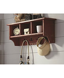 Country Cottage Coat Hook with Storage Cubbies