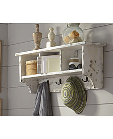 Country Cottage Coat Hooks with Storage Cubbies
