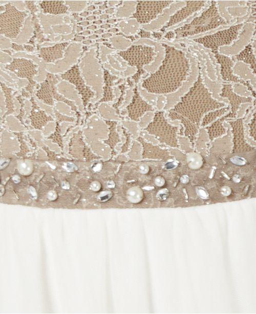 f08d4f34396 City Studios Juniors  Lace   Tulle Fit   Flare Dress   Reviews ...