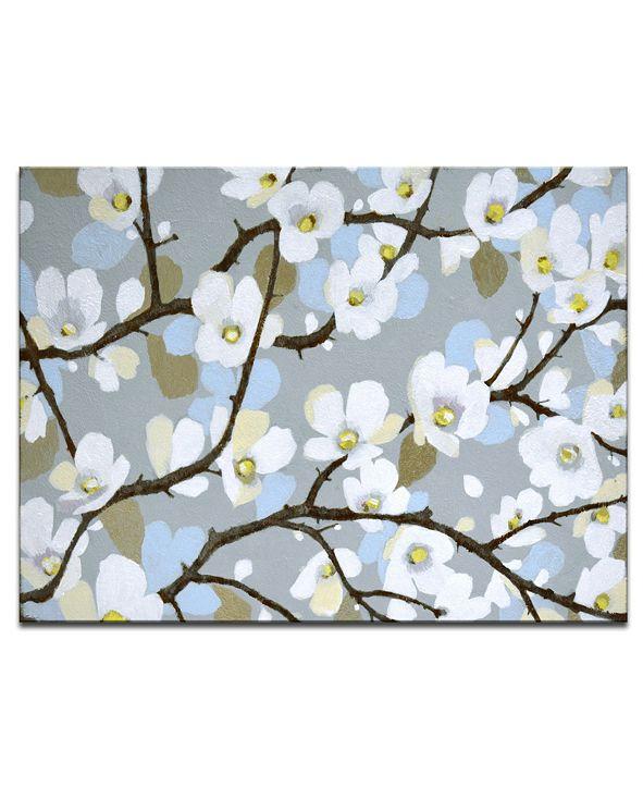 "Ready2HangArt 'Dogwood Meadow' Floral Canvas Wall Art, 20x30"""