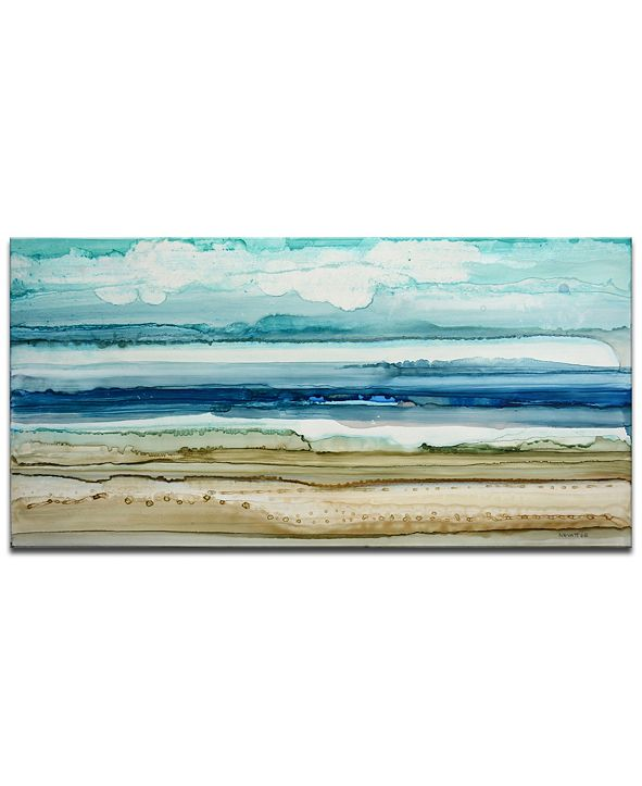 Ready2HangArt 'Beach Shore' Abstract Canvas Wall Art, 18x36""