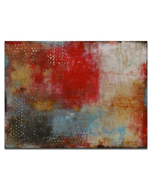 "Ready2HangArt 'Smoke Red' Abstract Wall Art, 20x30"""