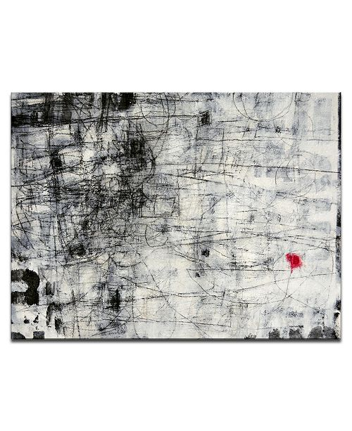 """Ready2HangArt 'Released' Abstract Black and White Canvas Wall Art, 20x30"""""""