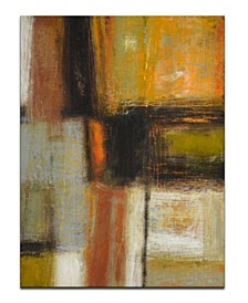 """'Down to Earth II' Abstract Canvas Wall Art, 40x30"""""""