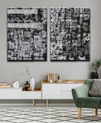 'Street Smart  I/II' 2 Piece Abstract Canvas Wall Art Set, 40x30